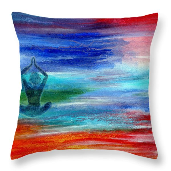 Namaste Throw Pillow by The Art With A Heart By Charlotte Phillips