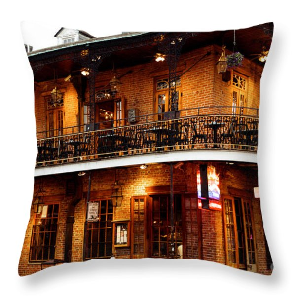New Orleans And All That Jazz Throw Pillow by Kim Fearheiley