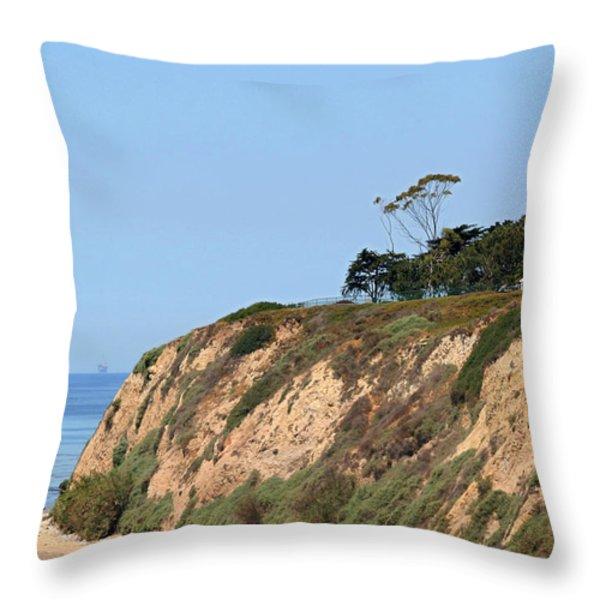 New Santa Barbara Lighthouse - Santa Barbara Ca Throw Pillow by Christine Till