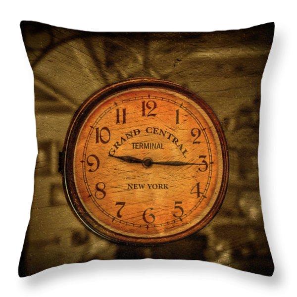 New York Times Throw Pillow by Evelina Kremsdorf