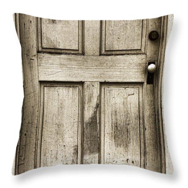 Old Church Door Throw Pillow by Bonnie Bruno