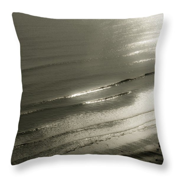 On The Beach Throw Pillow by Svetlana Sewell