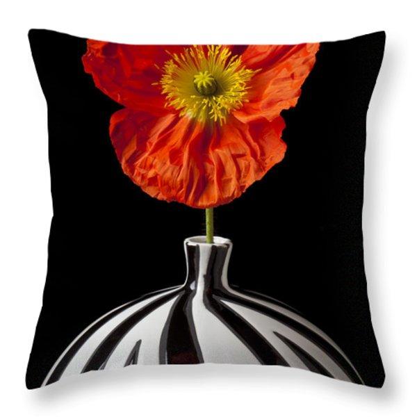 Orange Iceland Poppy Throw Pillow by Garry Gay