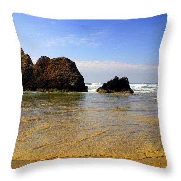 Oregon Coast 9 Throw Pillow by Marty Koch