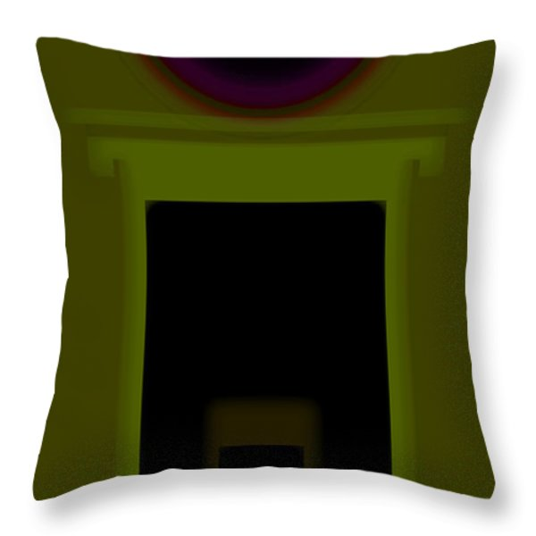 Palladian Green Throw Pillow by Charles Stuart