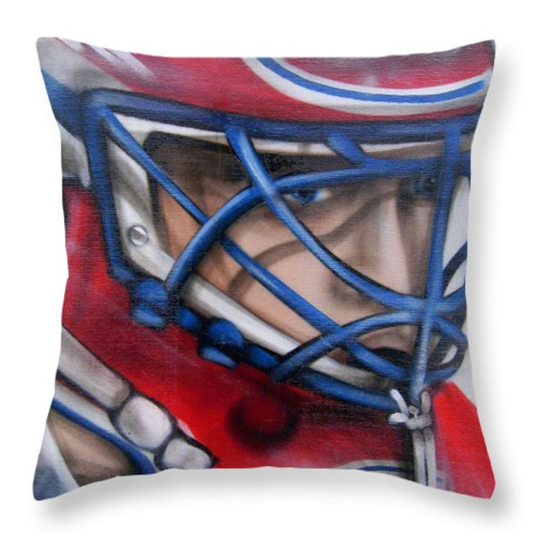Patrick Roy ... Throw Pillow by Juergen Weiss