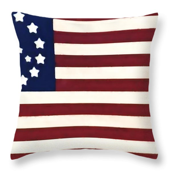 Peace Flag Throw Pillow by Bill Cannon