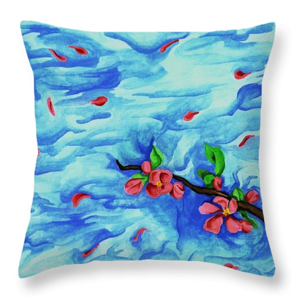 Petals In The Wind I Throw Pillow by Robert Morin