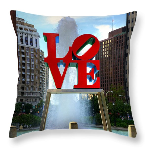 Philly Love Throw Pillow by Paul Ward