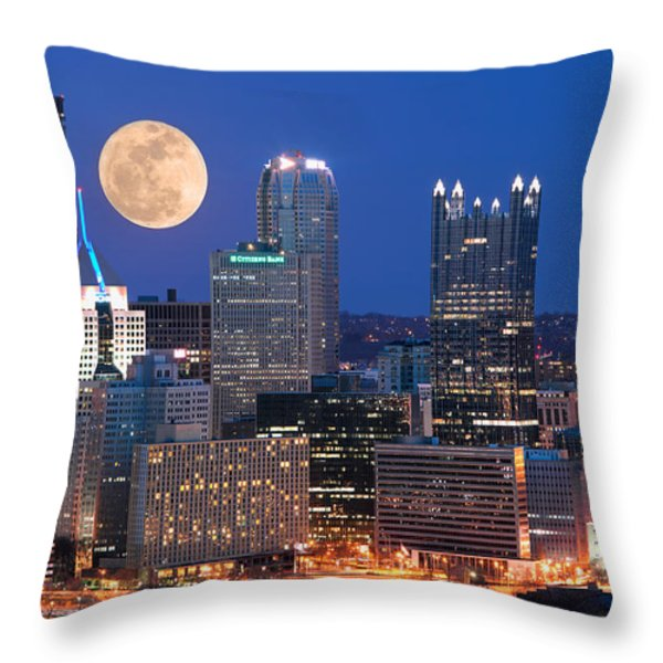 Pittsburgh 6 Throw Pillow by Emmanuel Panagiotakis