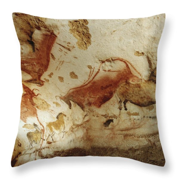 Prehistoric Artists Painted Robust Throw Pillow by Sisse Brimberg
