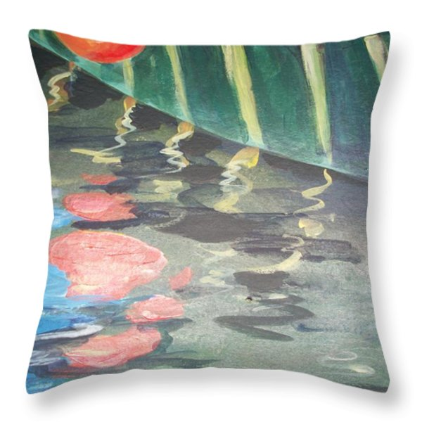 Reflecting Throw Pillow by Mickey Bissell