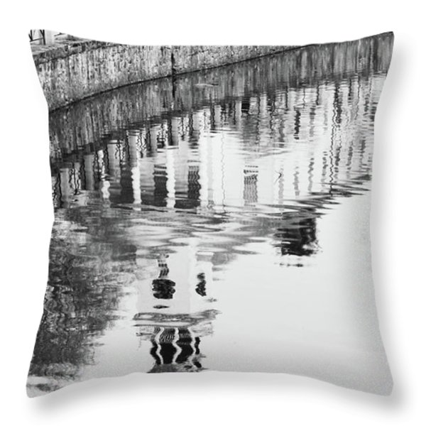 Reflections Of Church 2 Throw Pillow by Karol Livote