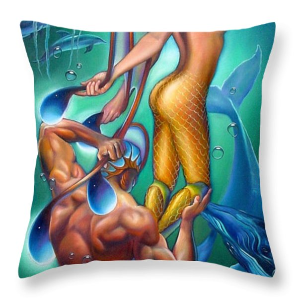 Resurrection Throw Pillow by Patrick Anthony Pierson