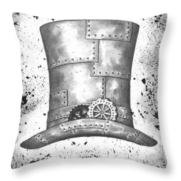 Riveting Top Hat Throw Pillow by Adam Zebediah Joseph