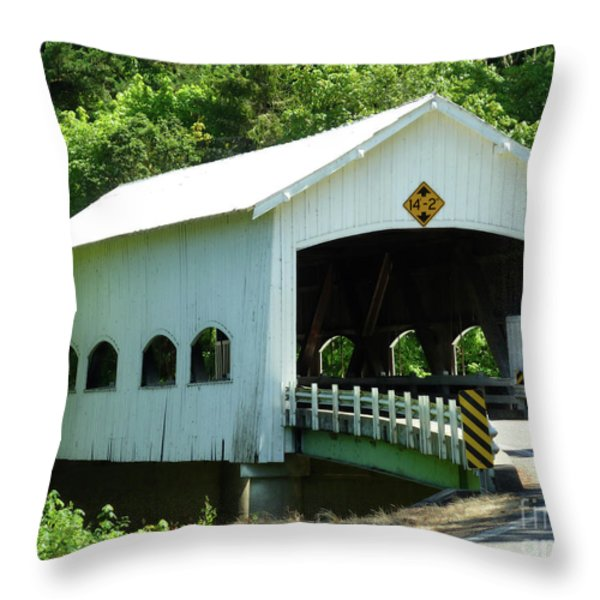 Rochester Bridge Throw Pillow by Methune Hively