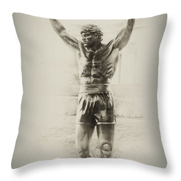 Rocky Throw Pillow by Bill Cannon