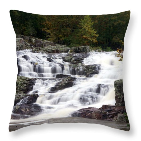 Rocky Falls Throw Pillow by Marty Koch