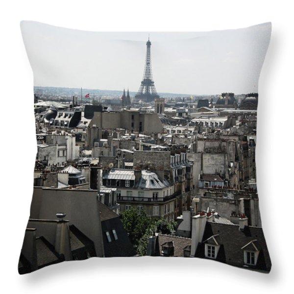 Roofs Of Paris. France Throw Pillow by Bernard Jaubert