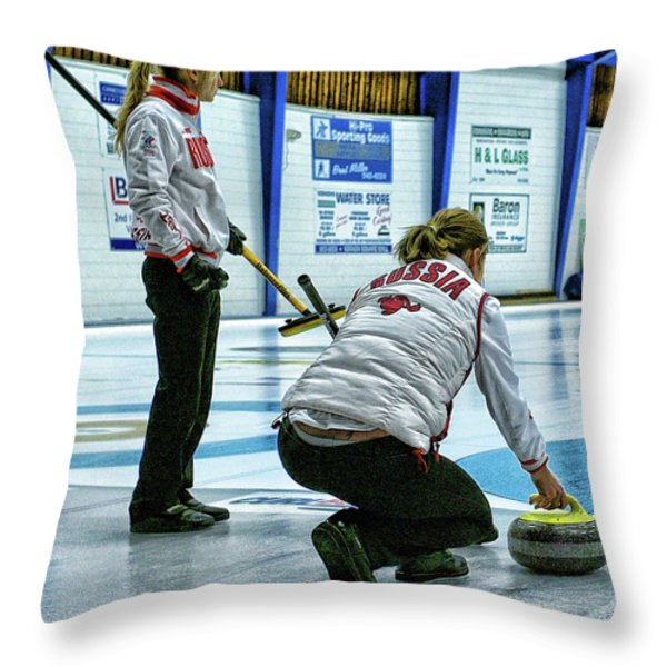 Russia Tattoo Throw Pillow by Lawrence Christopher