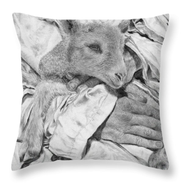 Safe Throw Pillow by Jyvonne Inman