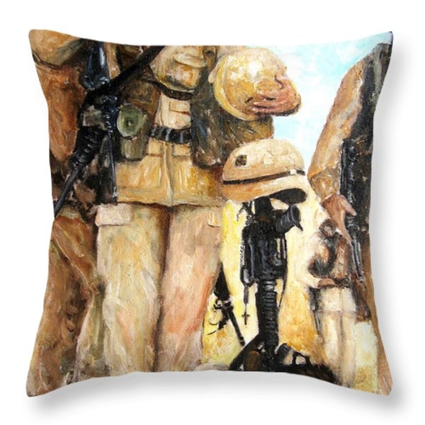 Saluting The Fallen Throw Pillow by Leonardo Ruggieri