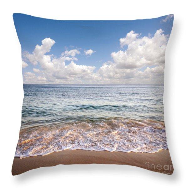 Seascape Throw Pillow by Carlos Caetano