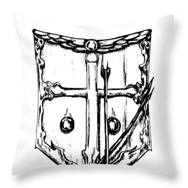 Shield Of Faith Throw Pillow by Maryn Crawford