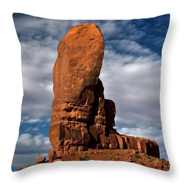 Shield Rock Throw Pillow by Murray Bloom