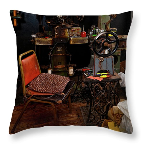 Shoe Hospital Throw Pillow by Christopher Holmes