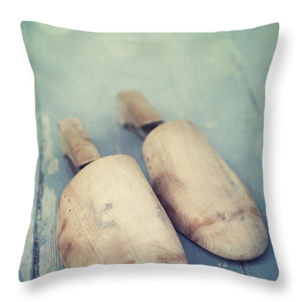 Shoe Trees Throw Pillow by Priska Wettstein
