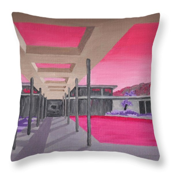 Sinatra House Two Throw Pillow by Randall Weidner