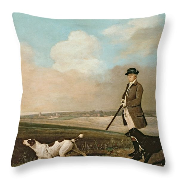 Sir John Nelthorpe Throw Pillow by George Stubbs