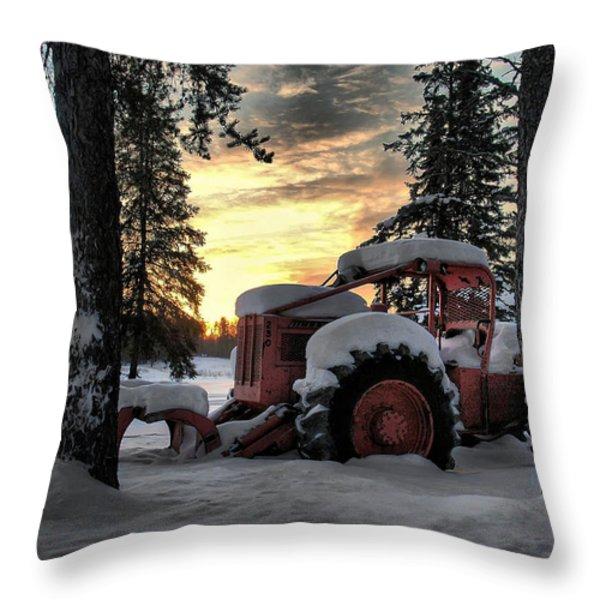 Skidder Sunrise Throw Pillow by Heather  Rivet