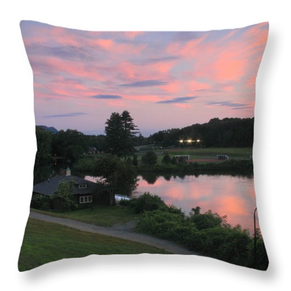Smith College Paradise Pond Sunset Throw Pillow by John Burk