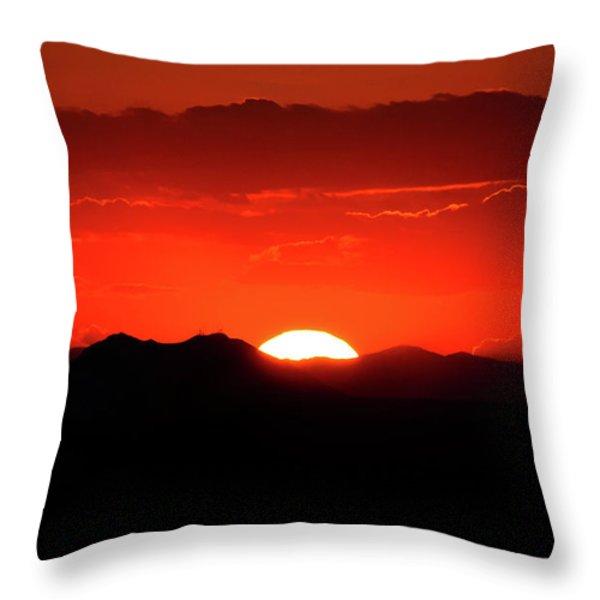 Snake River Plain Sunset Throw Pillow by Greg Norrell