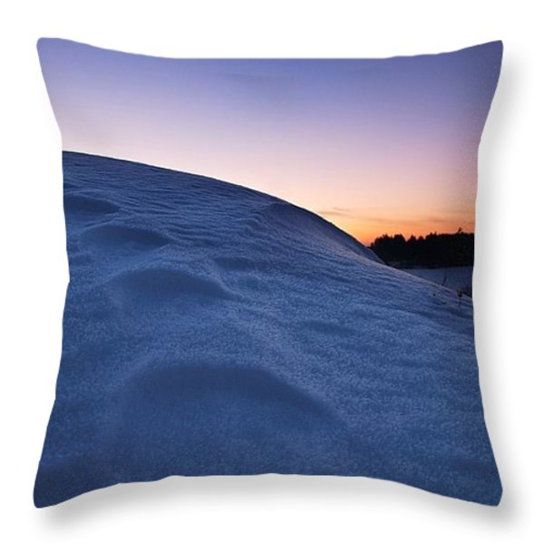 Snow Bank Throw Pillow by Hannes Cmarits
