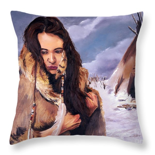 Solitude Throw Pillow by J W Baker