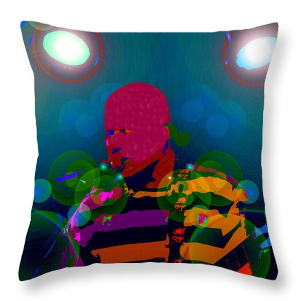 Sound Waves Throw Pillow by David Lee Thompson
