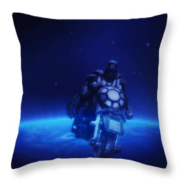 Space Cowboy Throw Pillow by Bill Cannon
