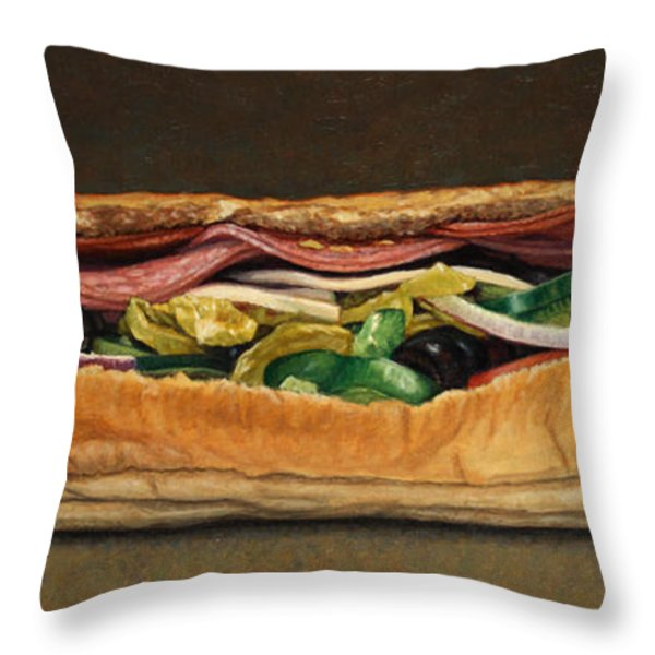 Spicy Italian Throw Pillow by James W Johnson