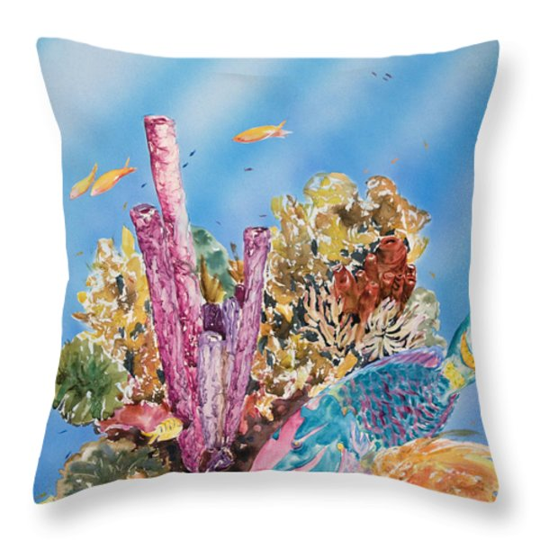 Spotlight Parrotfish Throw Pillow by Tanya L Haynes - Printscapes