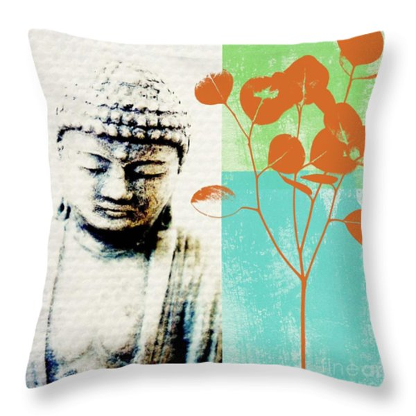 Spring Buddha Throw Pillow by Linda Woods