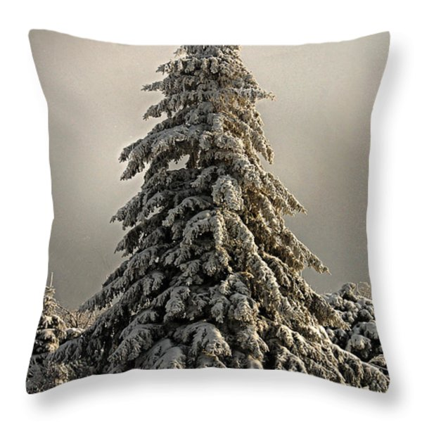 Standing Tall Christmas Card Throw Pillow by Lois Bryan