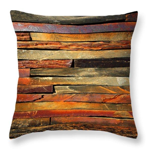 Stone Blades Throw Pillow by Carlos Caetano