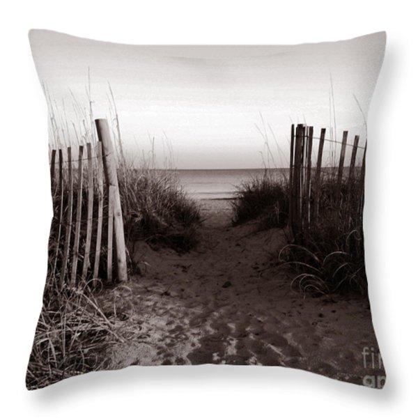 Sunrise At Myrtle Beach Sc Throw Pillow by Susanne Van Hulst