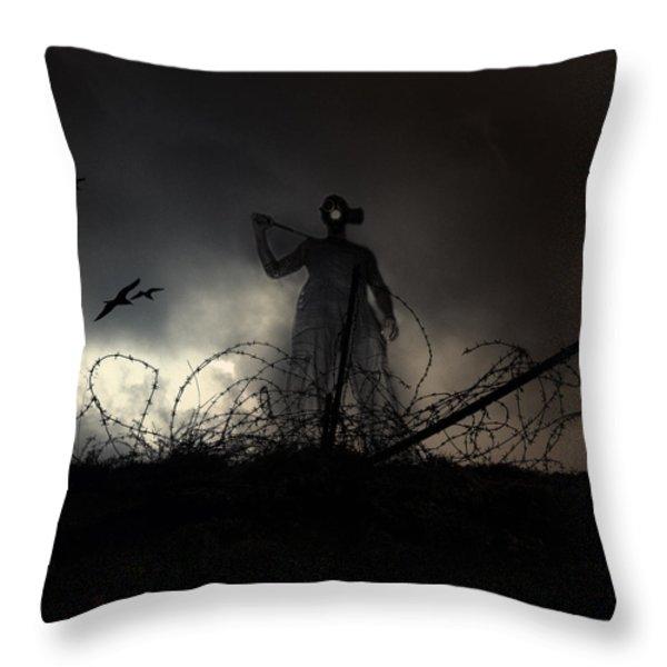 Survivorman Throw Pillow by Stylianos Kleanthous