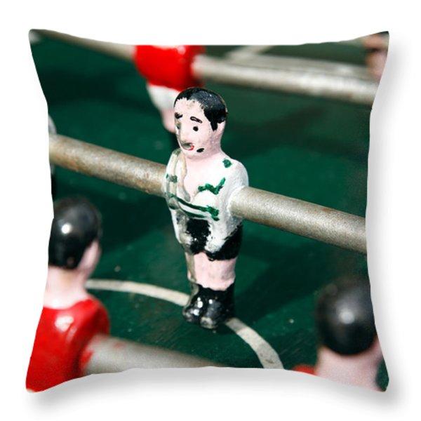 Table Soccer Throw Pillow by Gaspar Avila