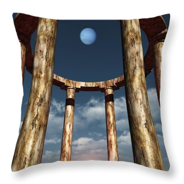 The Aligning Of Neptune Throw Pillow by Richard Rizzo