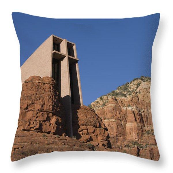 The Chapel Of The Holy Cross Church Throw Pillow by John Burcham